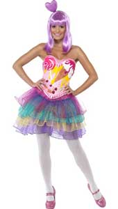 Candy Queen Costume, includes latex bodice with dress. WIG NOT INCLUDED - SOLD SEPARATELY.