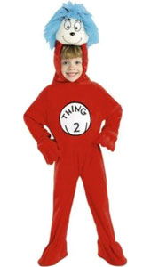 The Cat in the Hat, Thing 2 Costume. Includes fleece jumsuit with attached headpiece.
