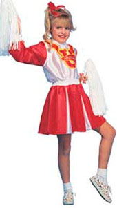 Cheerleader Costume, includes dress and 2 shakers.