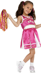 Cheerleader Costume, includes dress and pom poms.