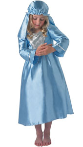 Child Nativity Mary Costume includes dress and headress.