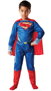 Is it a bird? Is it a plane? Dream up your own headlines for the Daily Planet and transform into the ultimate Super-hero in the red cape. Child Superman Costume, includes jumpsuit and cape.