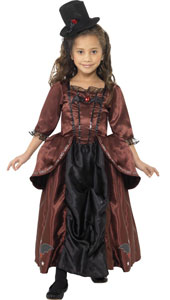 Vampiress Costume, includes dress and hat.