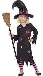 Cinder Witch Costume, includes dress, hat and tights.