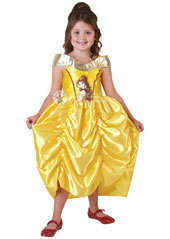 Belle never looked more glamorous than in her golden ball gown, gliding effortlessly across the floor, melting the Prince's heart in Beauty and the Beast. And her golden gown never looked finer than this classic costume. Classic Golden Belle Costume,