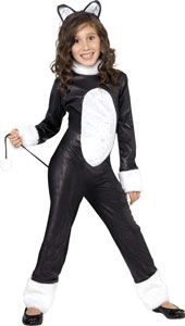 Cool Cat Costume, includes Jumpsuit with Tail and Headpiece.