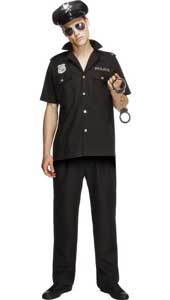 Cop Costume, includes top, trousers and hat.