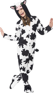 Cow Costume, includes all in one jumpsuit with Hood.