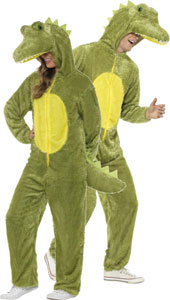 Crocodile Costume, includes jumpsuit with hood.