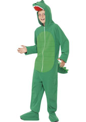 Crocodile Child Costume, includes all in one jumpsuit with hood.