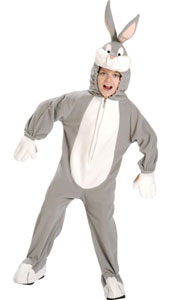 Bugs Bunny Costume, includes jumpsuit with attached headpiece.