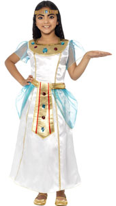 Deluxe Cleopatra Girl Costume, includes dress and headpiece.