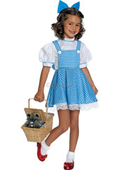 Dress up as Dorothy Gale, the star of The Wizard of Oz! With your pretty chequered dress and bow, who knows what will happen next time the wind blows? Will you meet the Munchkins and head off to the Emerald City? Deluxe Dorothy Costume, includes hair