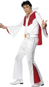 Elvis Costume, includes shirt, pants, cape and belt. WIG AND SHADES SOLD SEPARATELY.