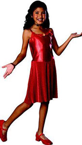 High School Musical Deluxe Gabriella Costume. Includes dress, brooch and head mic.