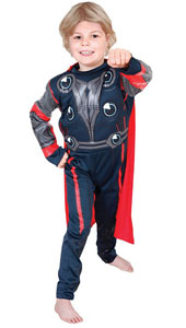 Deluxe Padded Muscle Chest Thor Costume, includes printed jumpsuit with padded chest.