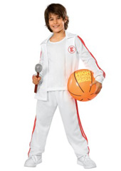 Deluxe High School Musical Troy Costume. Includes Pants, warm-up jacket with attached shirt, and inflatable basketball.