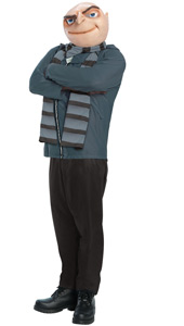 Despicable Me Gru Costume, includes suit, scarf and mask