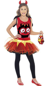 Moshi Monsters Diavlo Costume, includes tutu dress, wings, headband and bag. LEGGINGS NOT INCLUDED.
