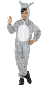 Child Plush Velour Donkey Costume with Hood