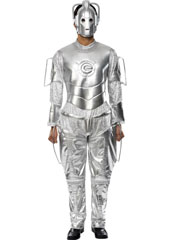Dr Who Cyberman Costume, includes jumpsuit and mask.