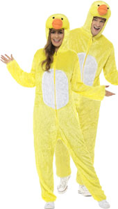 Adult Duck Costume, includes jumpsuit with hood.