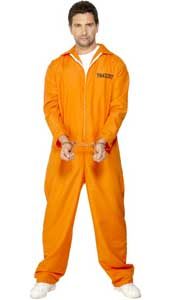 Escaped Prisoner, includes orange boiler suit. HANDCUFFS NOT INCLUDED.