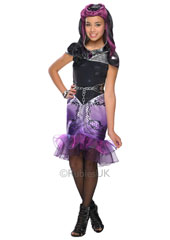 Ever After High Raven Queen Costume. Raven Queen Costume includes caplette, dress, belt, cuff and tights.