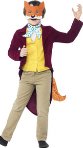 Roald Dahl Fantastic Mr Fox Costume, includes jacket with tail and waistcoat, mask and cravat.
