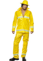 Fireman Costume, includes jacket, trousers and hat.