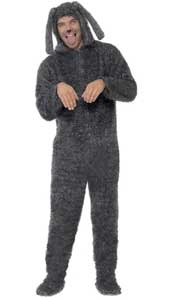 Adult Fluffy Dog Costume, includes all in one jumpsuit with hood.