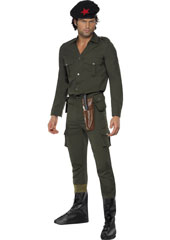 Freedom Fighter Costume, includes top, beret and trousers with attached bootcovers and sheath.
