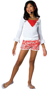 High School Musical Gabriella Lifeguard Outfit. Includes hoodie with attached shirt and shorts.