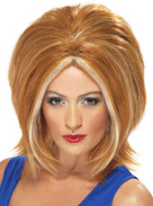 Ginger Power Wig. Ginger, with blonde streaks.