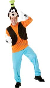 Disney Goofy Costume, includes top, trousers, padded gloves and headpiece.