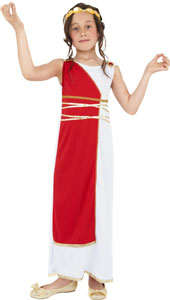 Grecian Girl Costume, includes robe and headpiece.