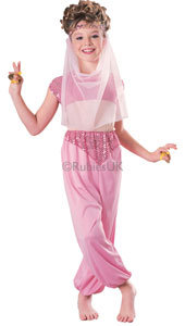 Imagine floating across a warm sunset on a magic carpet, high above the minarets of Constantinople! Draw admiring glances from a Pasha here or an Emir there, but remember: you and the harem have been promised to the Sultan. Harem Girl Costume, includ