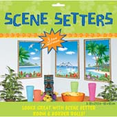 Window View Add-ons. 85cm * 67.3cm. Three giant decorations. Can be used on it's own, or together with Room setters to produce a wonderful tropical scene.