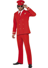 High Flyer Costume, includes jacket, trousers, hat and shirt front.