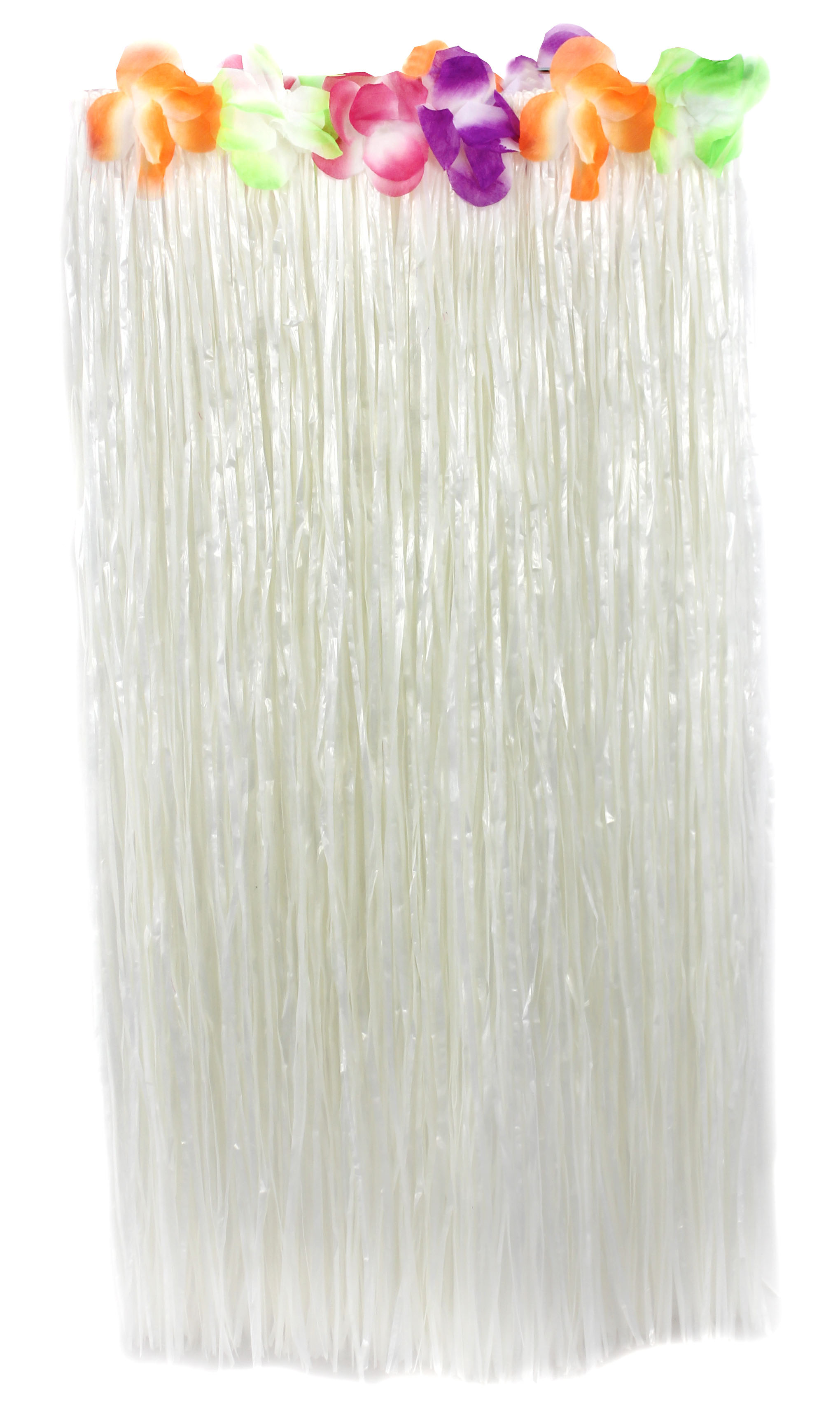 80cm long white hawaiian hula luau tiki grass skirts
