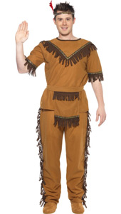 Indian Brave Costume, includes top, trousers, belt and headband.