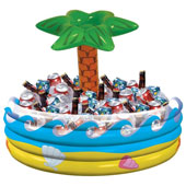 Tropical Palm Tree Inflatable Cooler. 35.6cm * 74.9cm.
