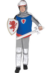 Knight Costume, includes trousers, tunic and headpiece.