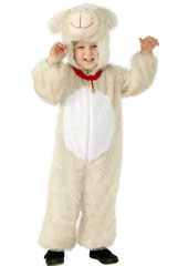 Child Plush Velour Lamb Costume with Hood