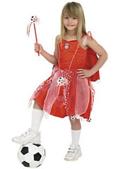 Liverpool Football Fairy Costume, includes dress with crest, detachable wings, cape and wand.