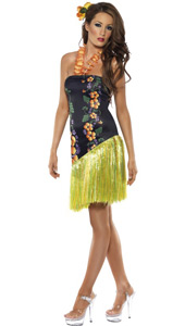 Luscious Luau Costume, includes dress and lei neckpiece.