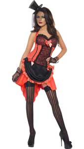 Fever Madame Peaches costume, includes dress only. HAT AND STOCKINGS SOLD SEPARATELY.