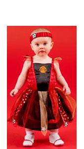 Manchester United Football Fairy, includes dress with crest, detachable wings, cape and headband.