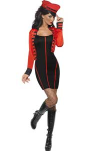 Military Popstar Costume, includes dress and jacket. HAT NOT INCLUDED - SOLD SEPARATELY.