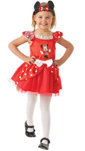 You'll be perfectly in step with every pirouette as Minnie the Ballerina. With its pretty polka dots and bow to go between your Mouse ears, you're sure to get Mickey in a spin and tapping his feet too! Minnie Mouse Red Ballerina Dress